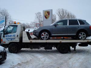 Перевозка автомобиля Порше эвакуатором компании СТЭП фото